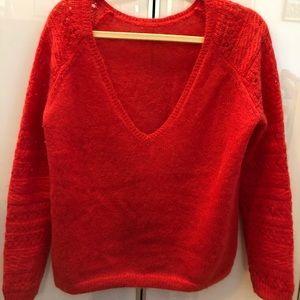 Sezane red Marius sweater size M